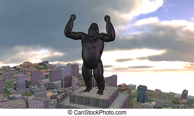 king kong in the city