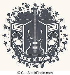 Symbol king of rock