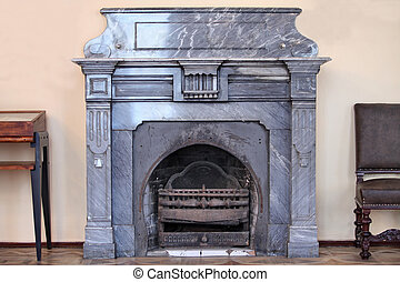 old fireplace