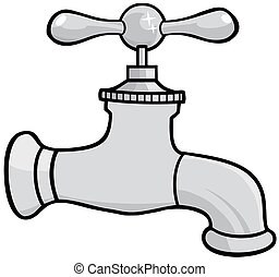 Water Faucet - Illustration Of Water Faucet