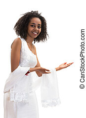 Welcome to Ethiopia - Isolated image of a young Ethiopian...