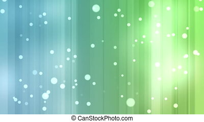 Blue and green streams of light with shining stars against a...