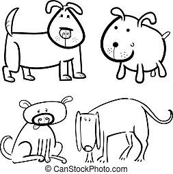 dogs or puppies for coloring
