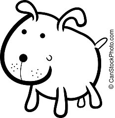 cute dog for coloring book
