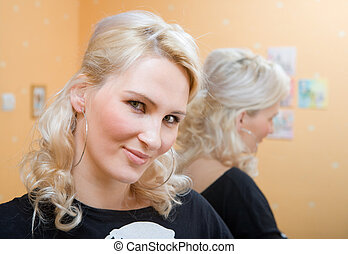 The blondy - portrait of a young beautiful blondy woman