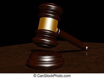 Judges gavel - 3d rendering of a judges gavel