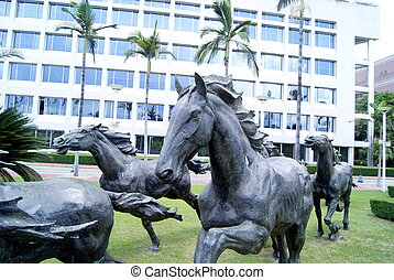 Sculpture horse  - Shenzhen city landscape sculpture.