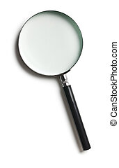 magnifier - the magnifier on white background