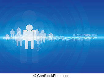 Human with technology background