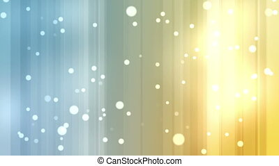 Yellow and blue streams of light with shining stars against...