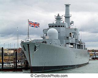 bateau, guerre, britannique
