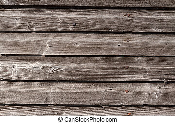 Weathered Wood Siding - Weathered and graying wood siding...
