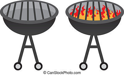 Barbecue Grill - Grill with and without fire