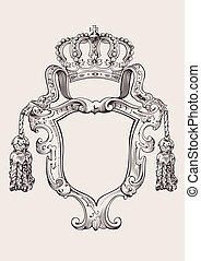 One Color Crown Insignia Isolated