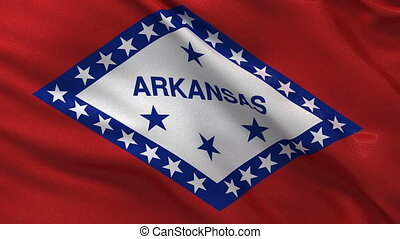 Flag of Arkansas - seamless loop - Seamless loop - Arkansas...