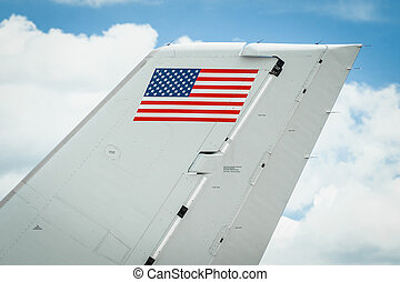 stars and stripes - USA stars and stripes flag on the tail...