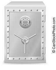 safe with combination lock vector illustration isolated on...