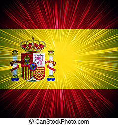 Spanish flag - Abstract background Spanish national flag...