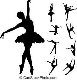 Ballet dancers - Set of ballet dancers vector illustration