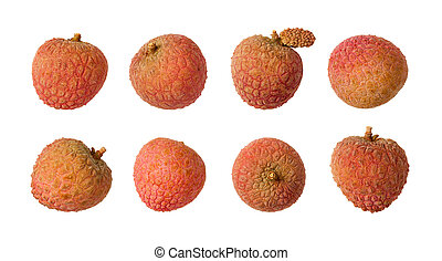Lychee Isolated on white - Lychee isolated on a white...