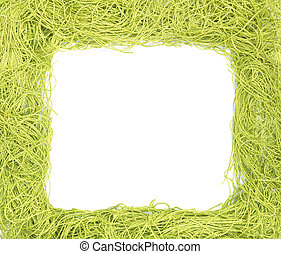 frame made from green strings