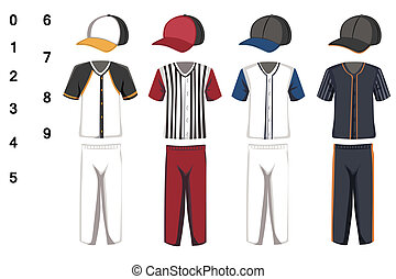 Baseball jersey - A vector illustration of baseball jersey...