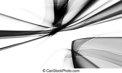 Black White Flowing Abstract Looping Animated Background