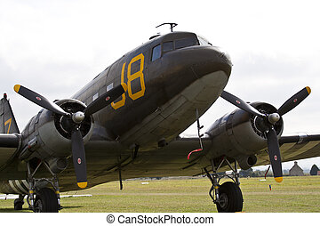 Douglas C-47 Skytrain WW II transport airplane