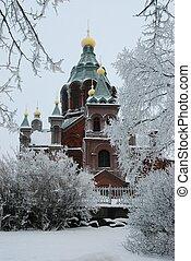 Uspenski cathedral in Helsinki, Finland