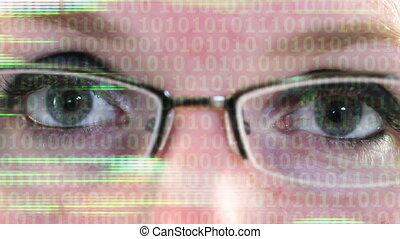 Digital Eye Strain - Digital Eye Strain, female woman with...