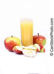 apple juice - Photo of apple juice on white background