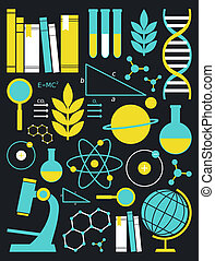 Education and Science Icon Set - A set of science and...