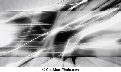 Black and White Abstract Loop - High tech Black and White...