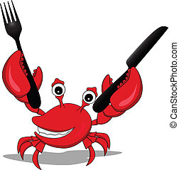 a funny cartoon crabs - vector illustration of funny cartoon...