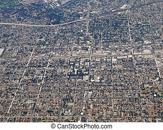 Downtown Pomona California Aerial - Aerial photo of downtown...