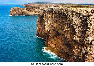gorra, roca,  -,  portugal, Costa