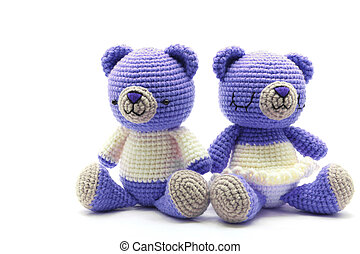 couples bear doll - couples of bride and groom bears getting...