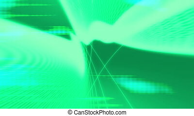 Green Wire frame Looping Background - Green Wire frame...