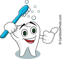 tooth cartoon character - vector illustration of tooth...