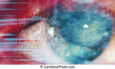 Blue High tech Eye Abstract - Blue High tech Eye CG and...