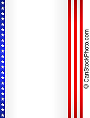 American Flag Design . vector illustration