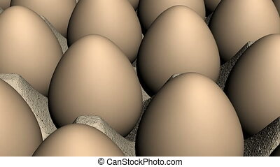 Brown Eggs Looping Background