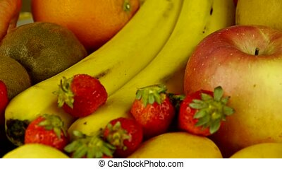 Rotation of delicious fruit plate