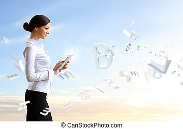 Business person and finance related background - Image of a...