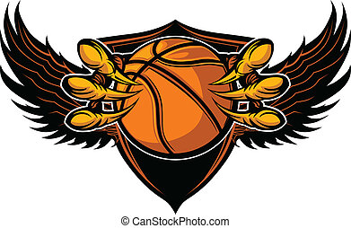 Eagle Basketball Talons and Claws Vector Illustration