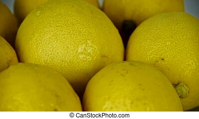 A set of fresh lemon fruit vegetables.