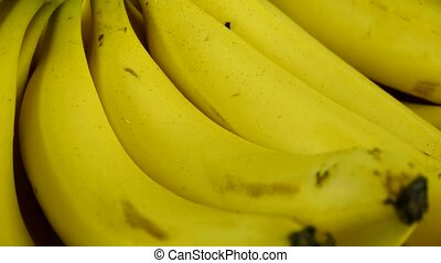 Rotation of delicious banana fruit