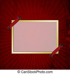 Red abstract background and frame