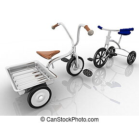 children's, tricycles