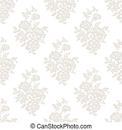 Seamless light floral wallpaper